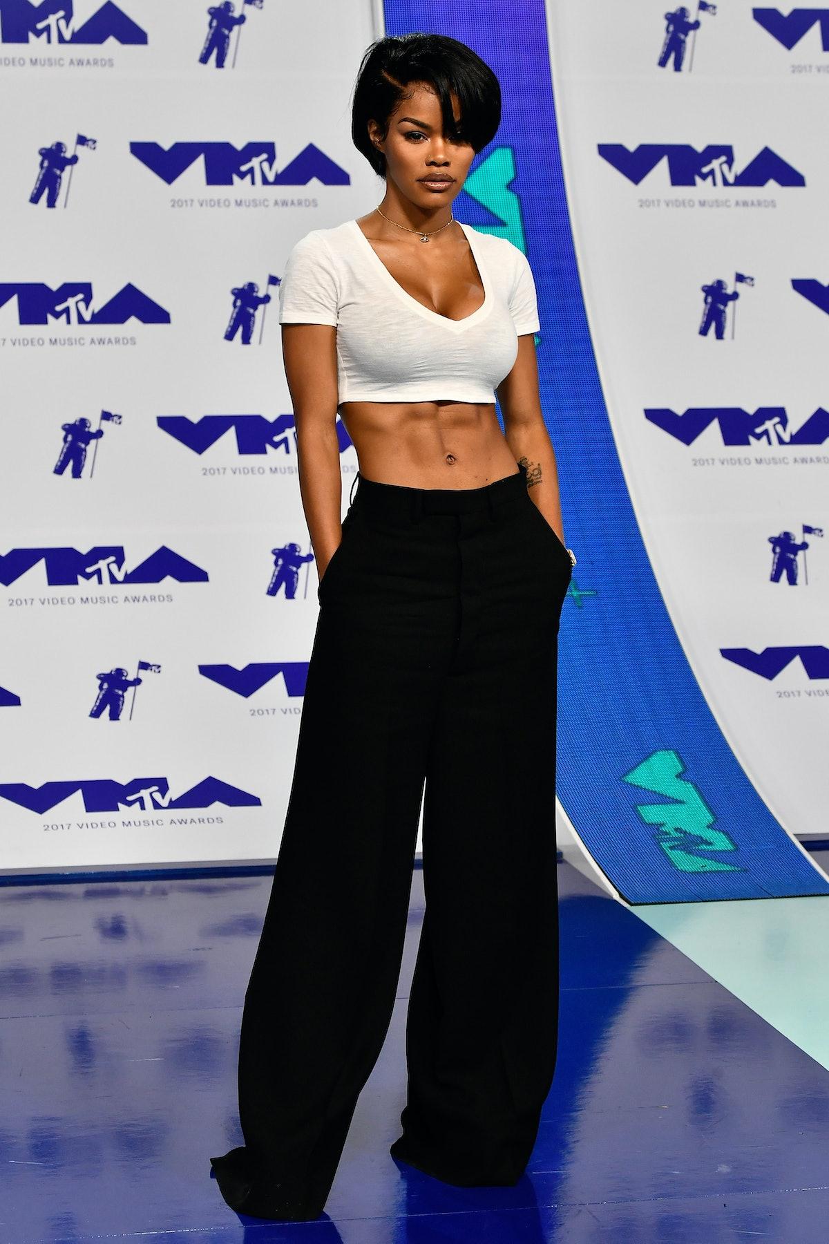 تیانا تیلور در مراسم اهدای جوایز موسیقی MTV 2017 در The Forum در 27 آگوست 2017 در اینگلوود ، ...