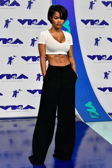 Teyana Taylor attends the 2017 MTV Video Music Awards at The Forum on August 27, 2017 in Inglewood, ...