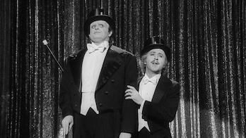 Peter Boyle and Gene Wilder in Young Frankenstein