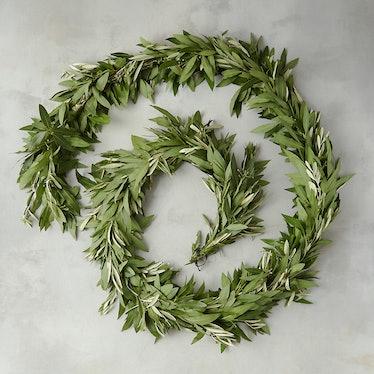 Fresh Bay Leaf & Olive Garland