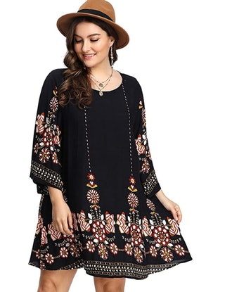 ROMWE Plus Size Summer Beach Dress