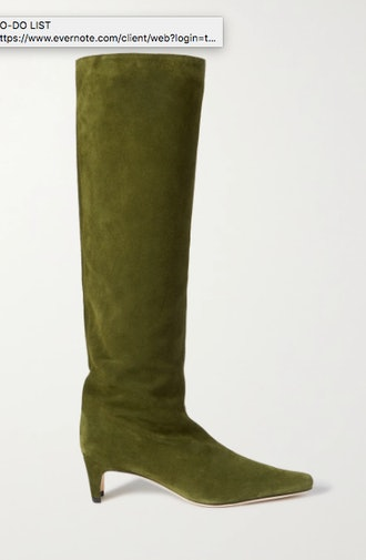 Wally suede knee boots