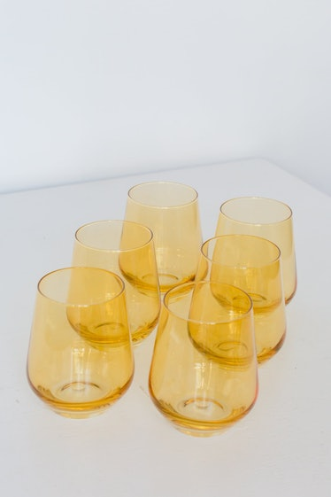 Colored Wine Stemless - Set of 6