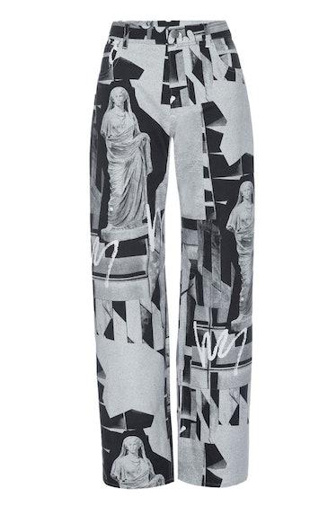 MIAOU Fargo Pants in Stone Grey print.