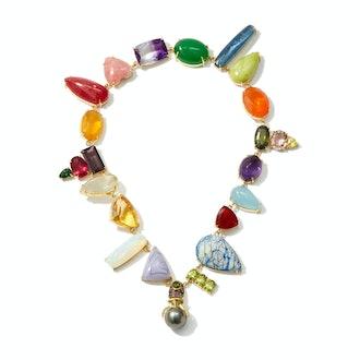 Daniela Villegas Wonderland Multi-Stone, Pearl & 18KT Gold Choker