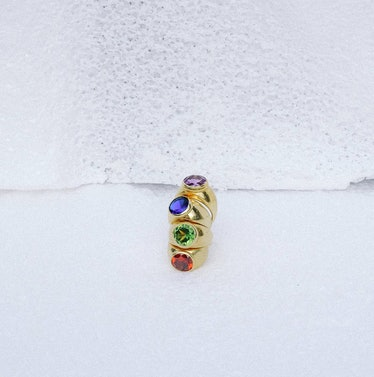Mondrian gold vermeil rings from Luiny.