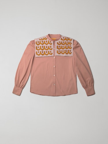 Variations In Blush long-sleeve shirt from Mola Sasa, made in collaboration with Blanca Miro's LA VE...
