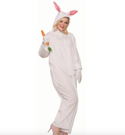 Woman wearing bunny costume