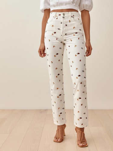 Cynthia Fruitloops High Rise Straight Jeans from Reformation.