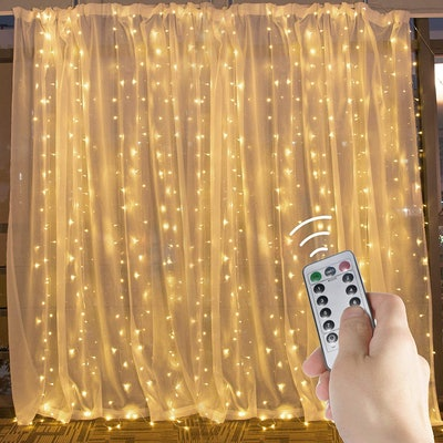 Brightown Hanging Window Curtain Lights