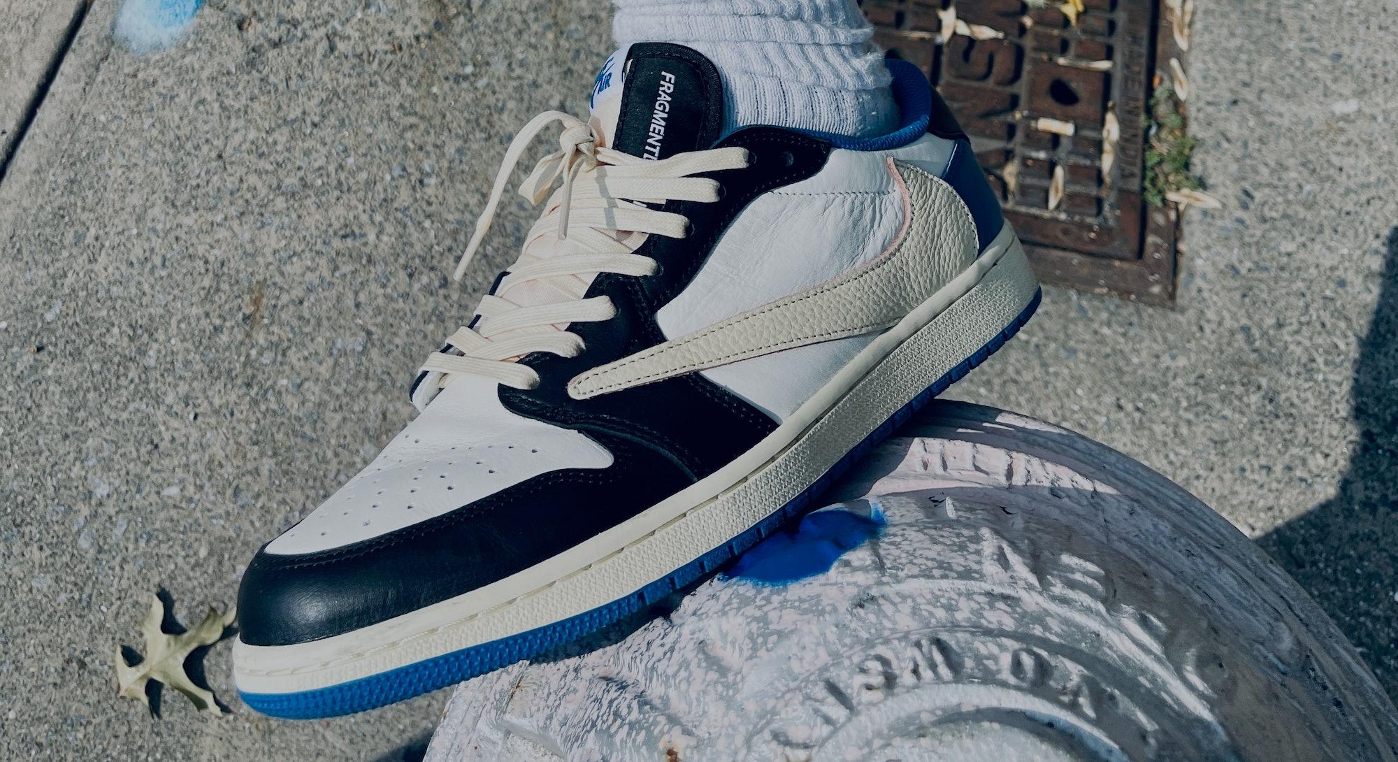 Nike Travis Scott x Fragment Design Air Jordan 1 Low review on feet