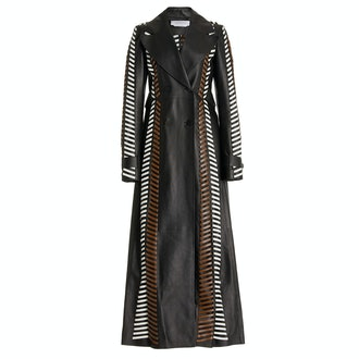 Gabriela Hearst Lorraine Whipstitched Leather Coat