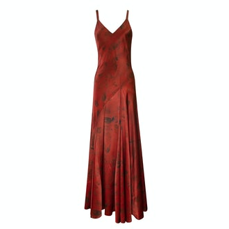 Alejandra Alonso Rojas Vera Rust Floral Dyed Gown
