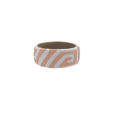 Iridigo Bajo Kuna Bracelet from Mola Sasa.