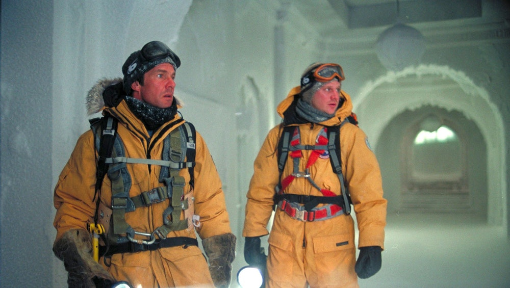 Dennis Quaid (left) in The Day After Tomorrow.