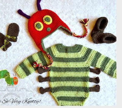 Very Hungry Caterpillar-Inspired Baby Halloween Costume