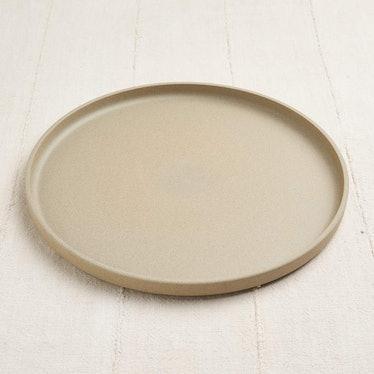 Plate in Unglazed Porcelain