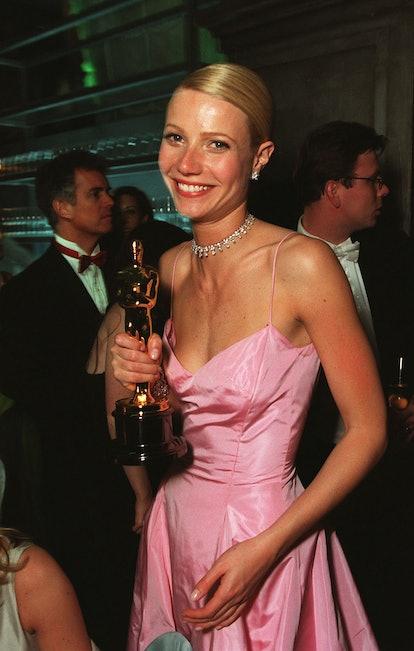 Gwyneth Paltrow with her Best Actress Oscar.