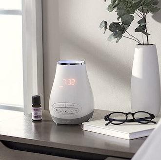 HoMedics SoundSpa Bluetooth Alarm Clock and Diffuser