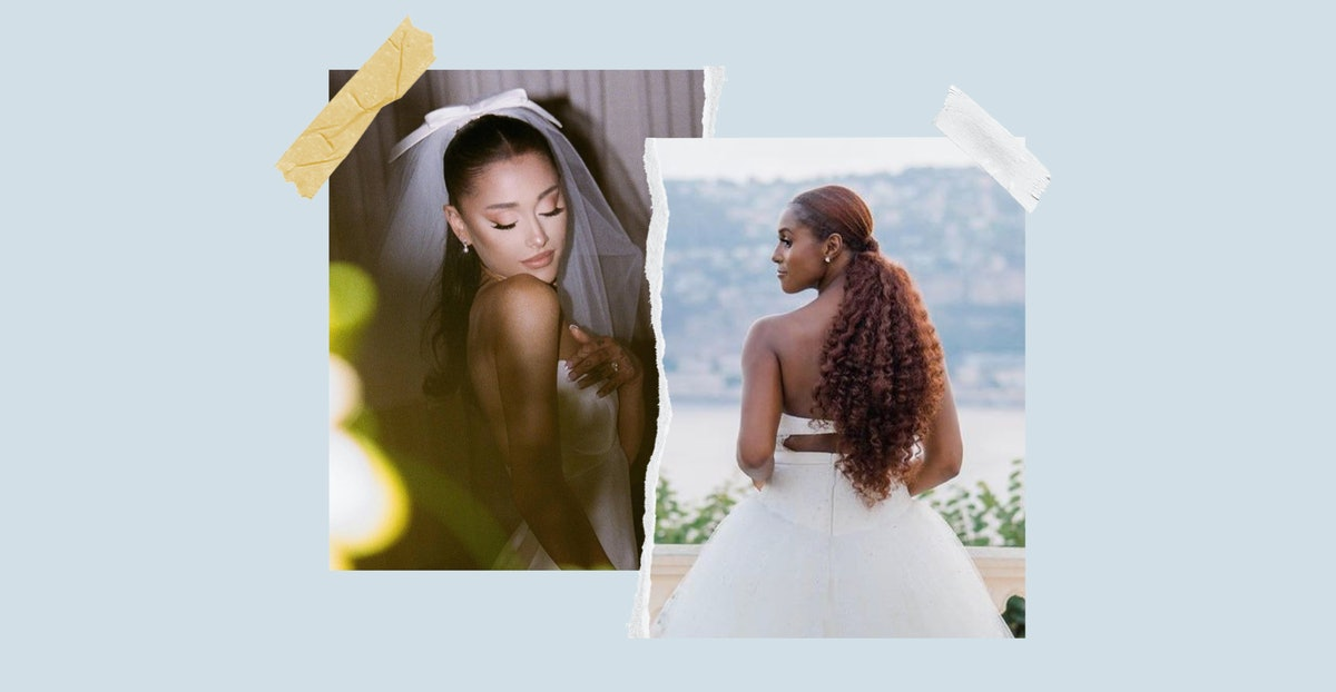 Looking for a bridal hairstyle? Take a cue from Ariana Grande and Issa Rae. Both had romantic weddin...