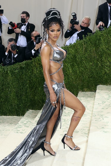 """Teyana Taylor attends the 2021 Met Gala benefit """"In America: A Lexicon of Fashion"""" at Metropolitan M..."""