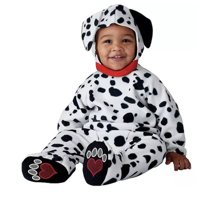 Baby dressed as a dalmatian