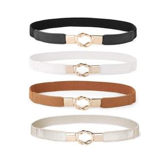 WERFORU Skinny Waist Belts (Set of 4)