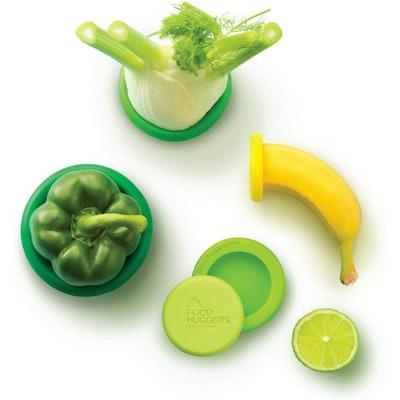 Food Huggers Reusable Silicone Food Savers (5 Pack)