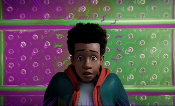 Miles Morales as depicted in 2018's Spider-Man: Into the Spider-Verse