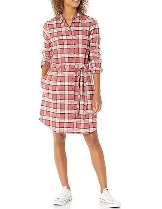 Goodthreads Flannel Belted Shirt Dress