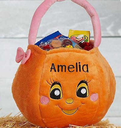 Girl Pumpkin Plush Trick or Treat Bag