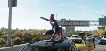 Peter donning his Iron Spider suit again in Spider-Man: No Way Home