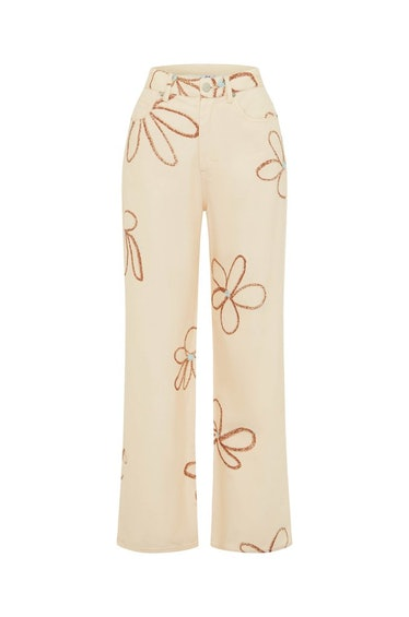 Newry Jean in Chalk and Flowers print from With Jéan.
