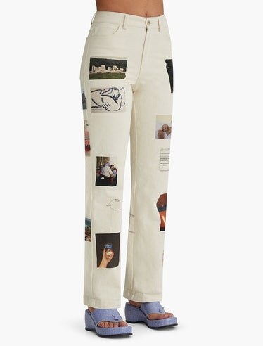 No 553 Friendship high waisted printed pants from Paloma Wool.