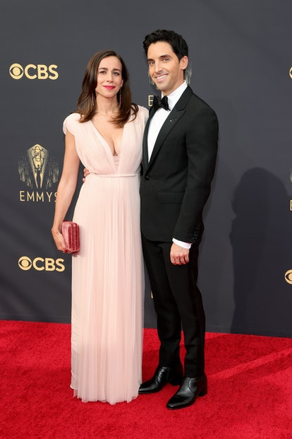 Lucia Aniello and Paul W. Downs at the 2021 Emmys