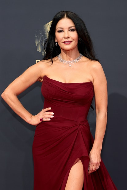 Catherine Zeta-Jones attends the 73rd Primetime Emmy Awards at L.A. LIVE on September 19, 2021 in Lo...