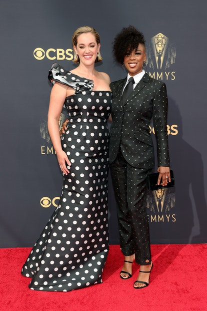 Lauren Morelli and Samira Wiley attend the 73rd Primetime Emmy Awards