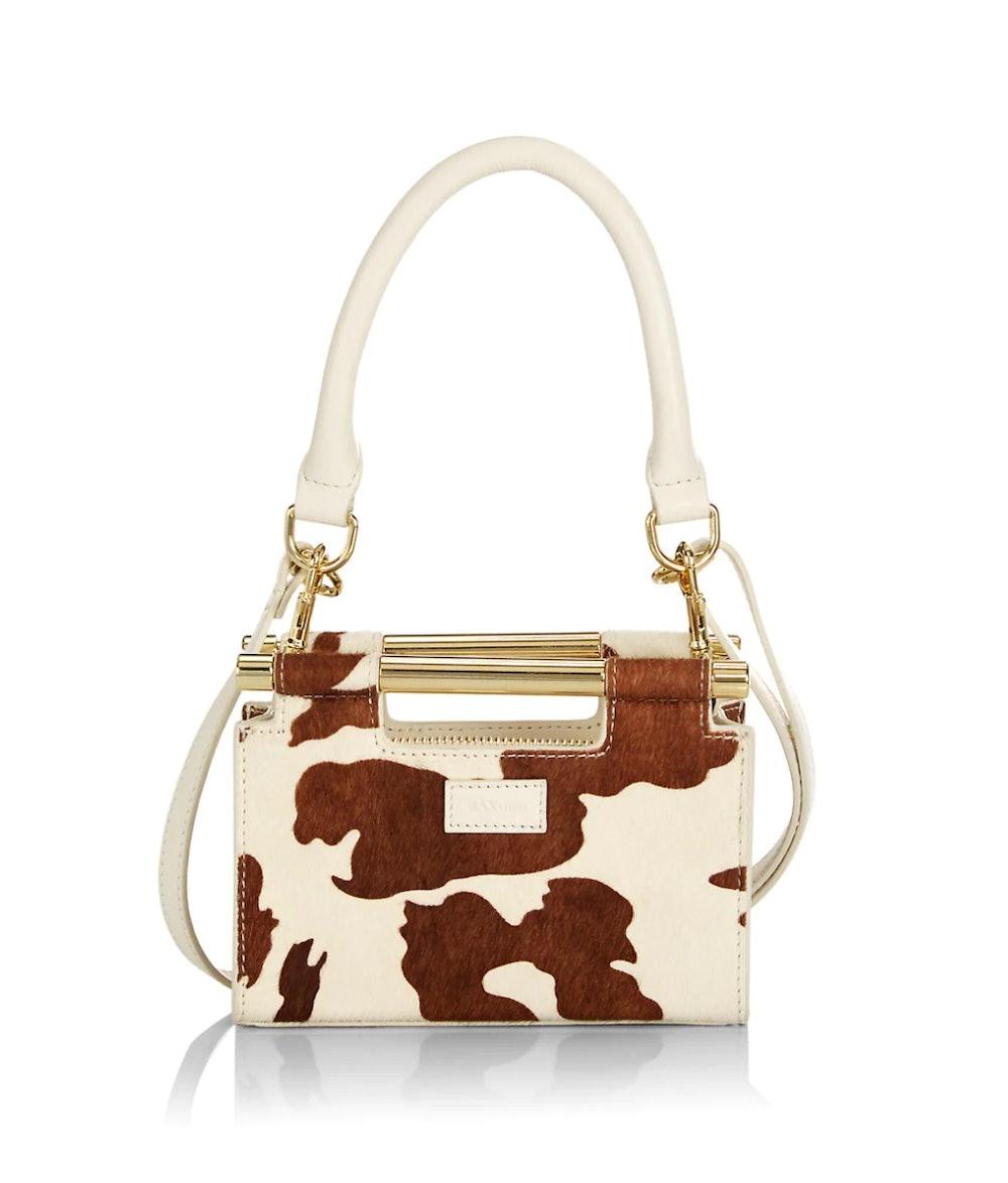 Meru Micro Mini Cow-Print Calf Hair Bag