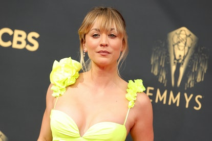 Kaley Cuoco attends the 73rd Primetime Emmy Awards at L.A. LIVE on September 19, 2021 in Los Angeles...