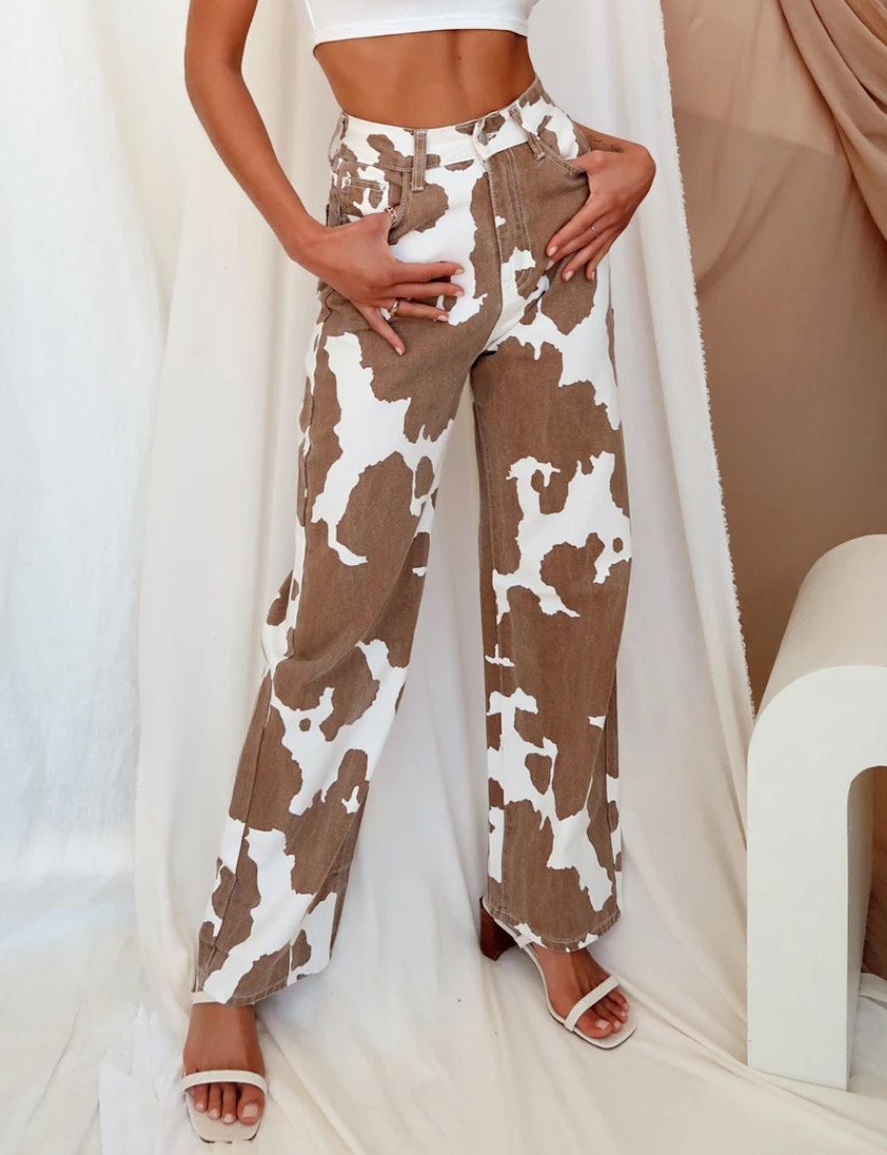 Midland Cow Print Jeans