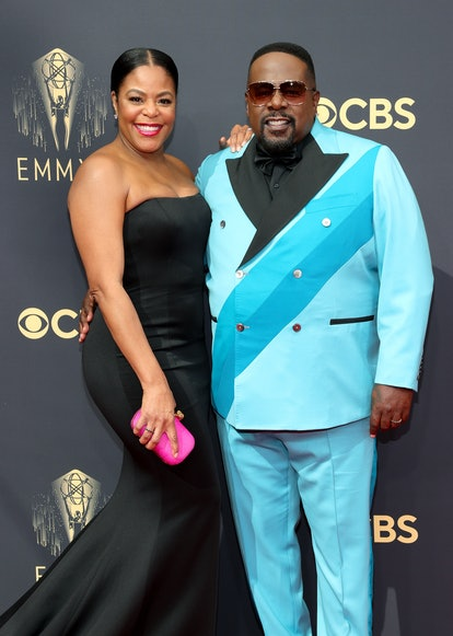 Lorna Wells and Cedric the Entertainer attend the 73rd Primetime Emmy Awards