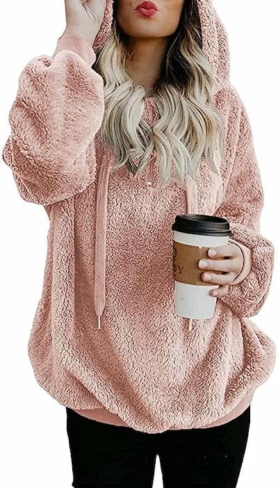 Acelitt Oversized Fleece Sweatshirt