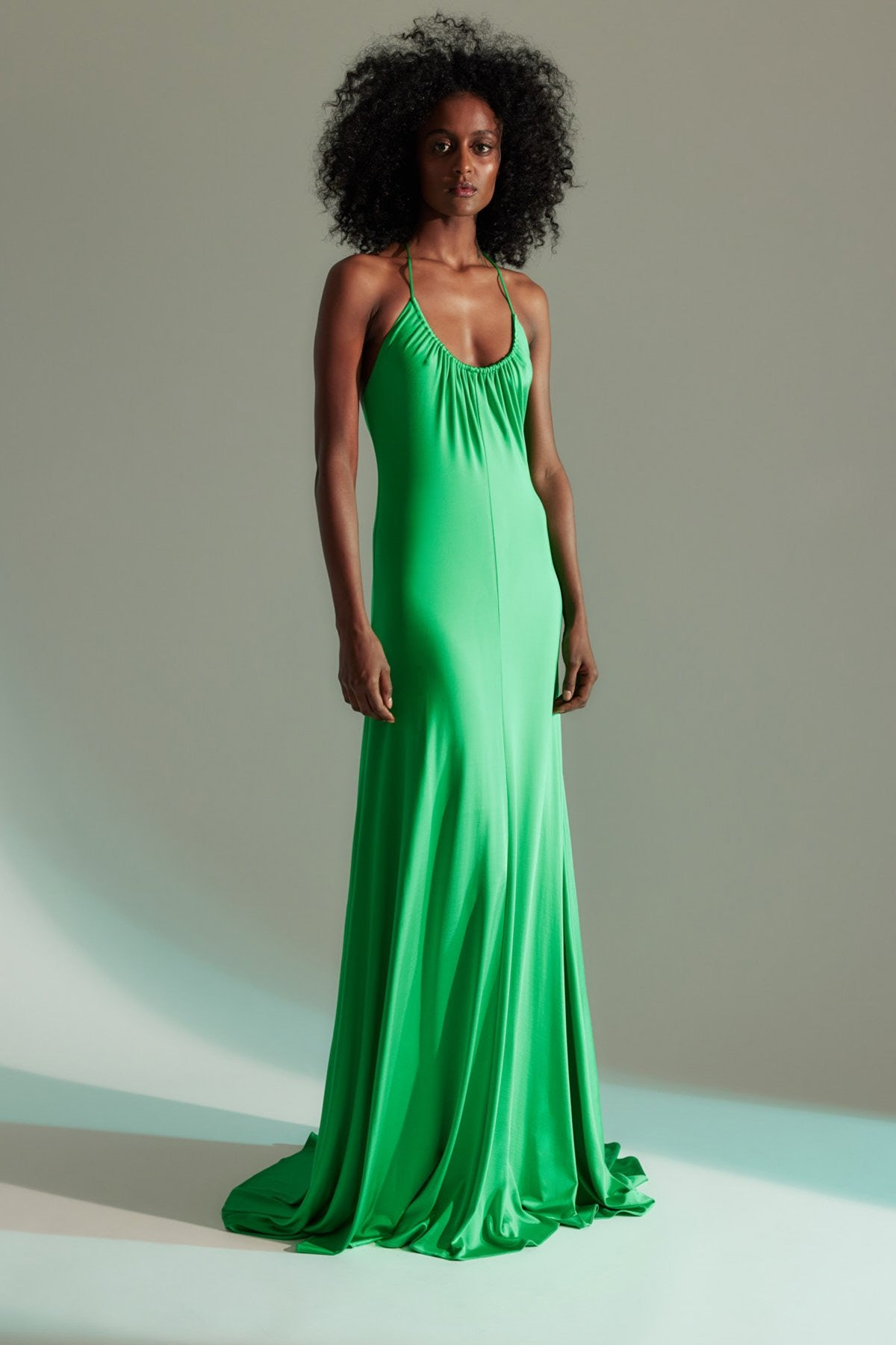 Lauren Halter Jersey Gown Jade