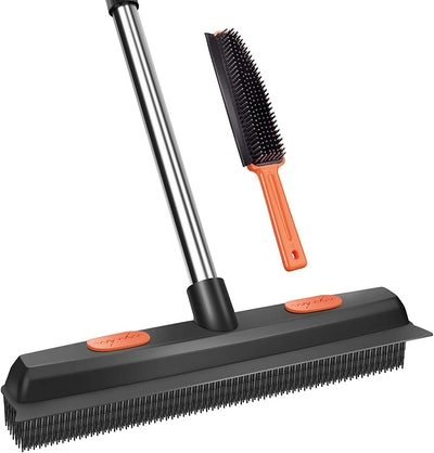 Conliwell Rubber Broom Pet Hair Removal Tool & Brush Set