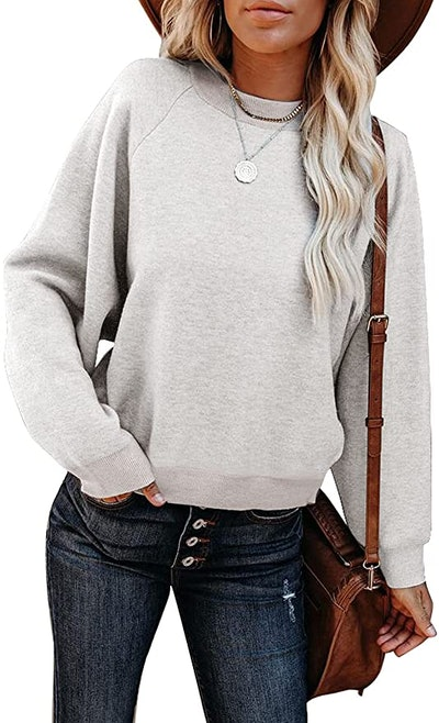 BLENCOT  Fall Color Block Pullover Sweater