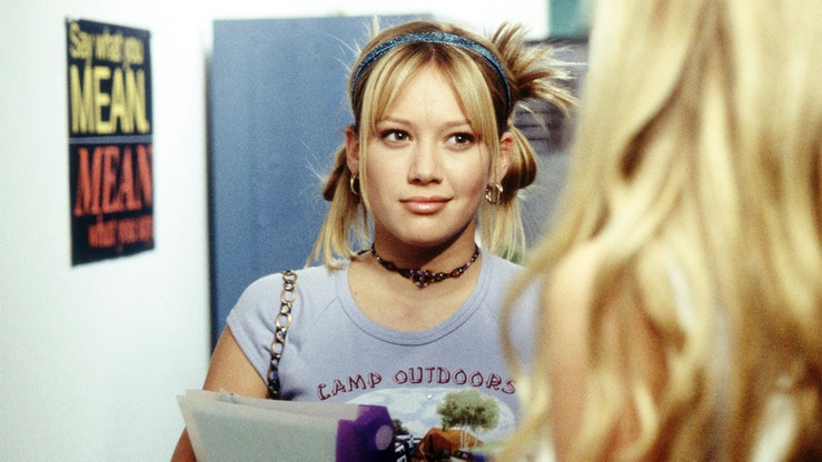 Hilary Duff in Lizzie McGuire.