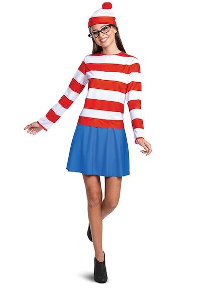 Where's Waldo Classic Wenda Costume for Adults