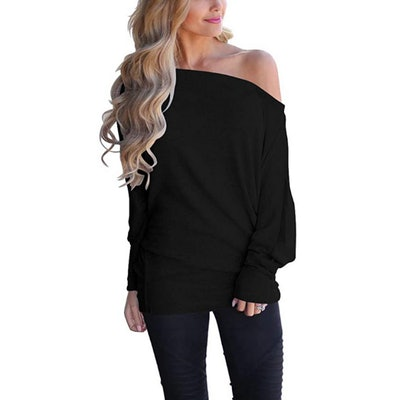 Lacozy Off Shoulder Pullover Sweater