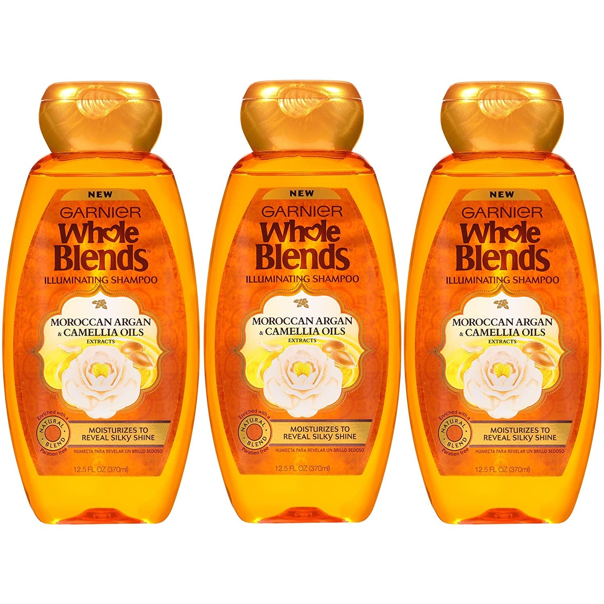 Garnier Whole Blends Illuminating Shampoo (3-Pack)