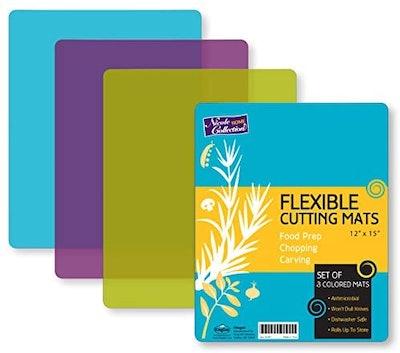 Flexible Plastic Cutting Board Mats (3-Pack)